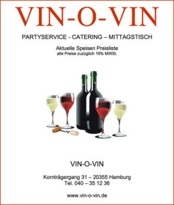 Preisliste Catering Vin-o-Vin